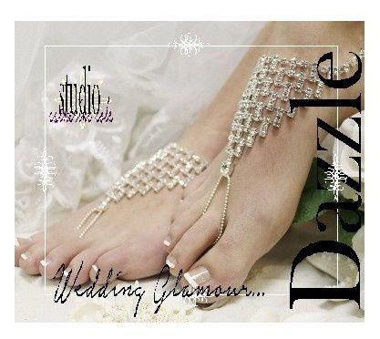Tmx 1424112706201 Sj6 L Dazzling Rhinestone Barefoot Wedding Sandal  Mooresville wedding dress