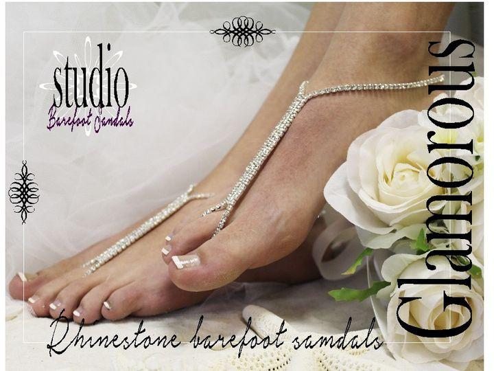Tmx 1424112770002 Sj1 Glamorous Rhinestone Barefoot Sandals Wedding  Mooresville wedding dress