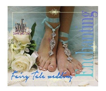 Tmx 1424112784022 Sj3 L Aqua Rhinestone Wedding Barefoot Sandal Beac Mooresville wedding dress