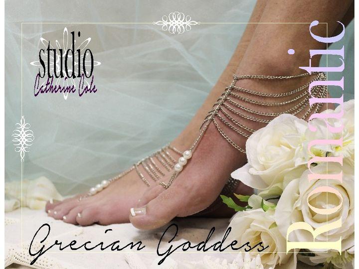Tmx 1424112844501 Bf16 Silver Goddess Barefoot Sandal Footless Sandl Mooresville wedding dress
