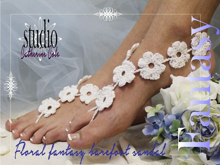 Tmx 1424112868014 Bf1 Barefoot Sandals Flower Foot Jewelr Footles Sa Mooresville wedding dress