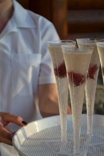 Long glass desserts