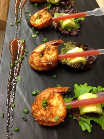 Shrimp and celery