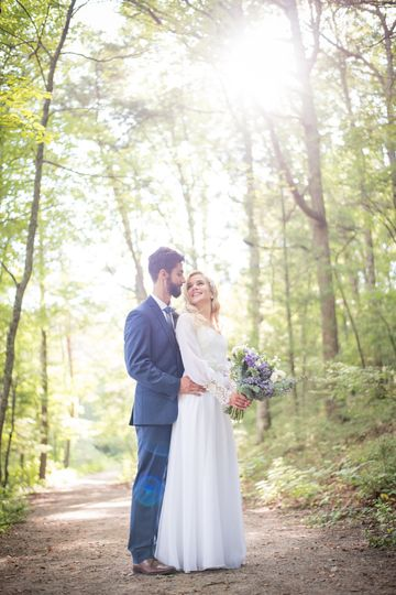 Woodland wedding Queen of a King Photography