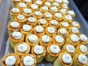 Mango PassionFruit Cylinders w Jaconde Sponge & Buttercream Rosette