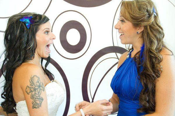 My sister and I both have extensions for my wedding for longer and thicker look!