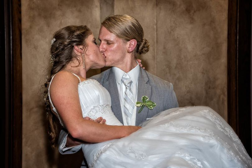 Bride and groom - just one more kiss!