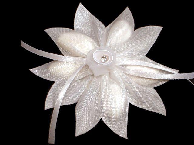 Tmx 1486052069565 Ribbonflowerrhinestonewhite Hopewell Junction, New York wedding favor
