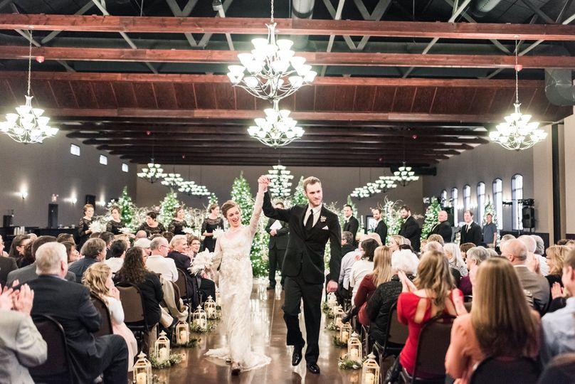 Wedding ceremony inside bella sala event center
