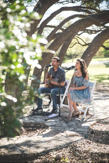 Outdoor ceremony on a Texas ranch