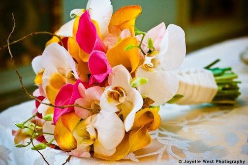 Orchids and Calla lilies