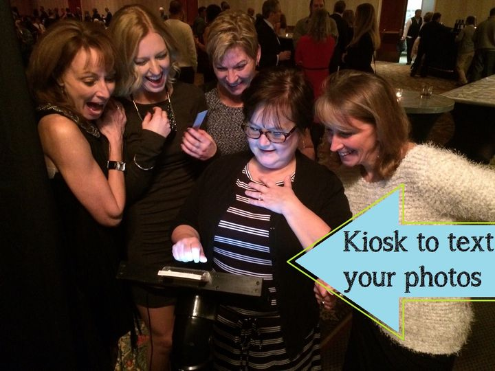 Guests can text their photos to their phones!