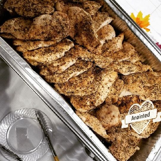 Chicken with seasoning