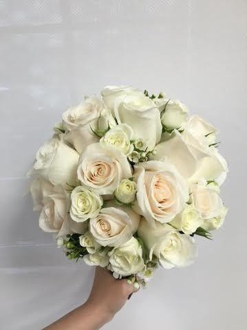 Tmx 1459274004505 White Rose Bridal Bouquet West Islip, NY wedding florist
