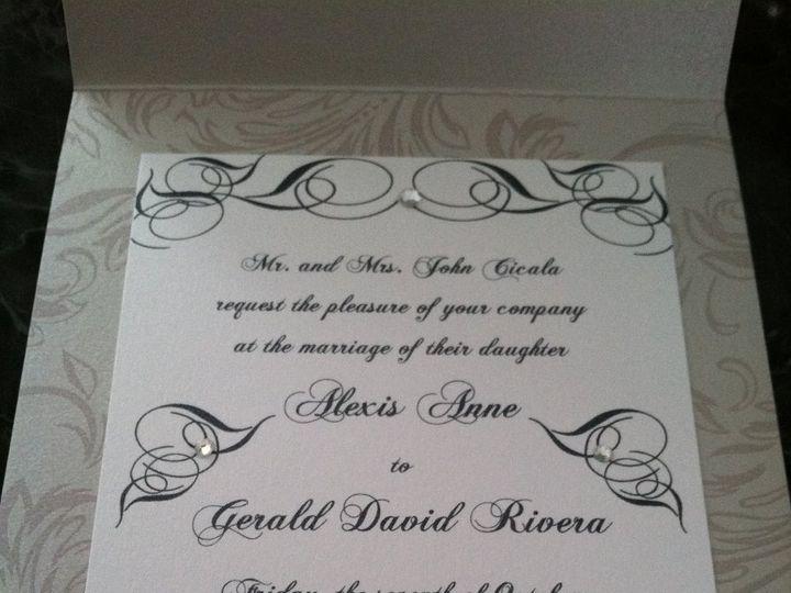 Tmx 1346186720917 IMG0500 Wayne wedding invitation