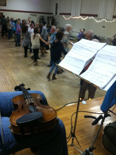 Playing Celtic reels and jigs for a Contra Dance