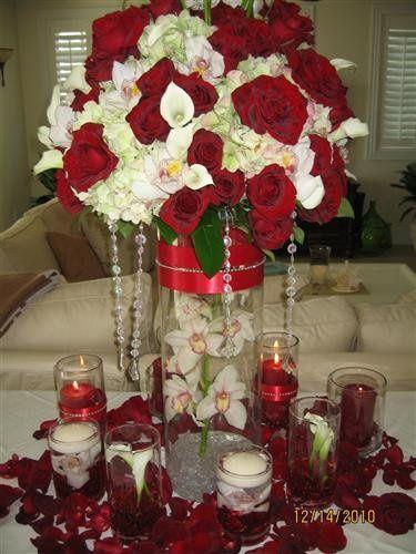 This arrangement was created for Hulk Hogan's recent wedding.