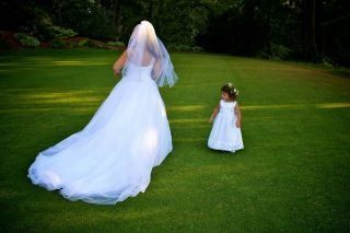 The bride with a kid