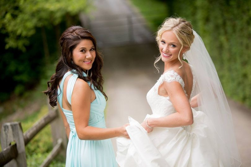 The bride and maid of honor