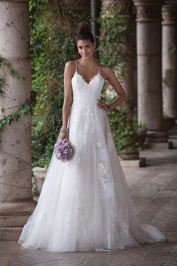Sincerity Bridal4017Feel as royal as you'll look in this sweetheart, A-line gown with layers...