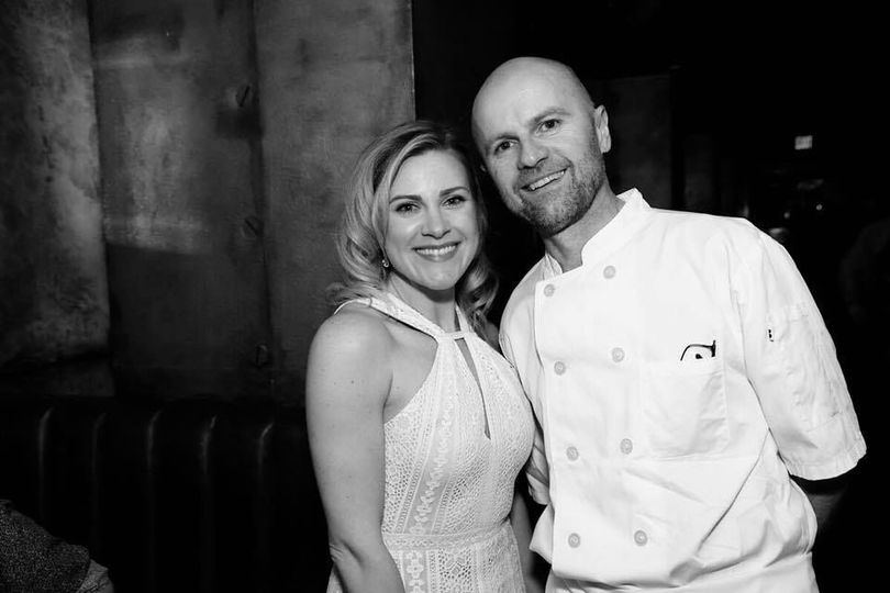 Executive Chef Donal and manager Amy