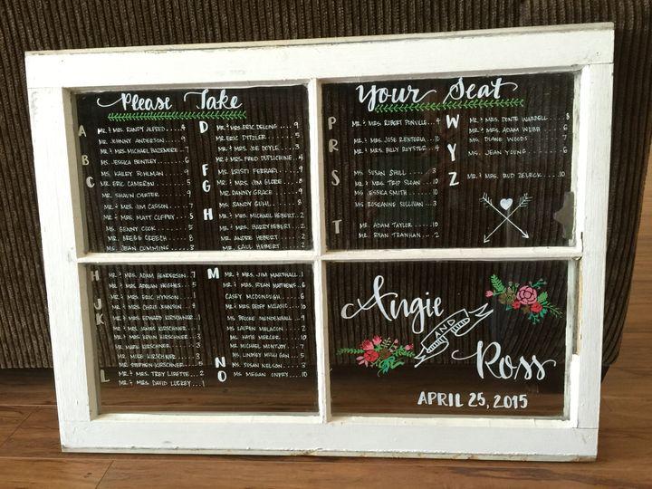 Wood Window Seating Charts