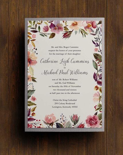 Floral & silver backing