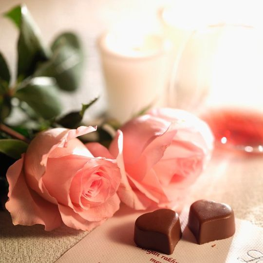Flowers and chocolates