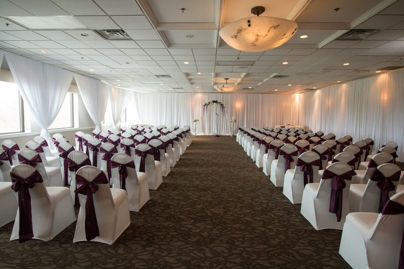 Indoor ceremony space and setup