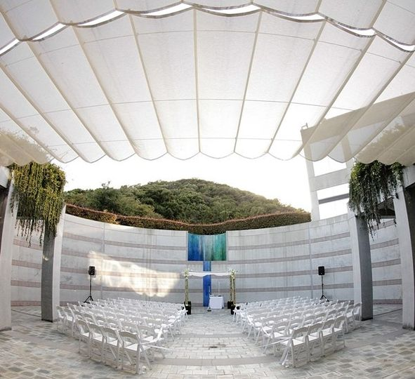 Founder's Courtyard ceremony