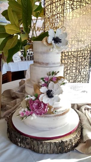 Wedding cake with floral design