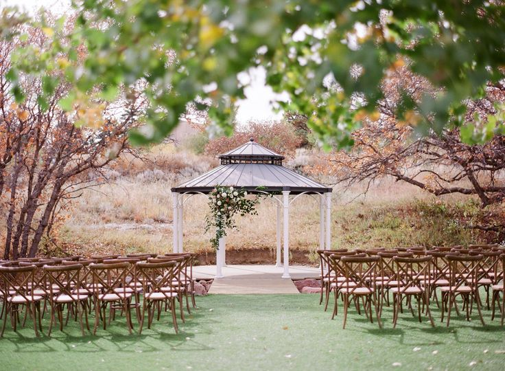 Our Garden-Inspired Gazebo is a perfect ceremony site with seating for up to 300