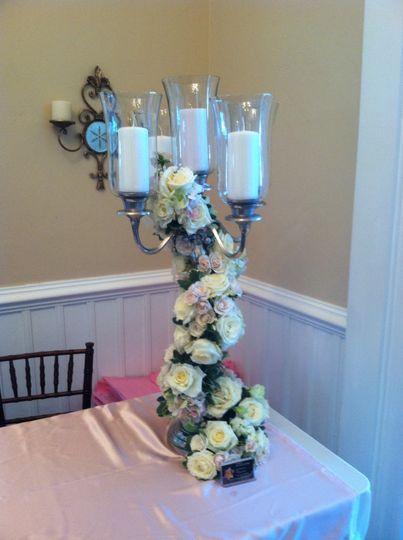 floral candelabra
