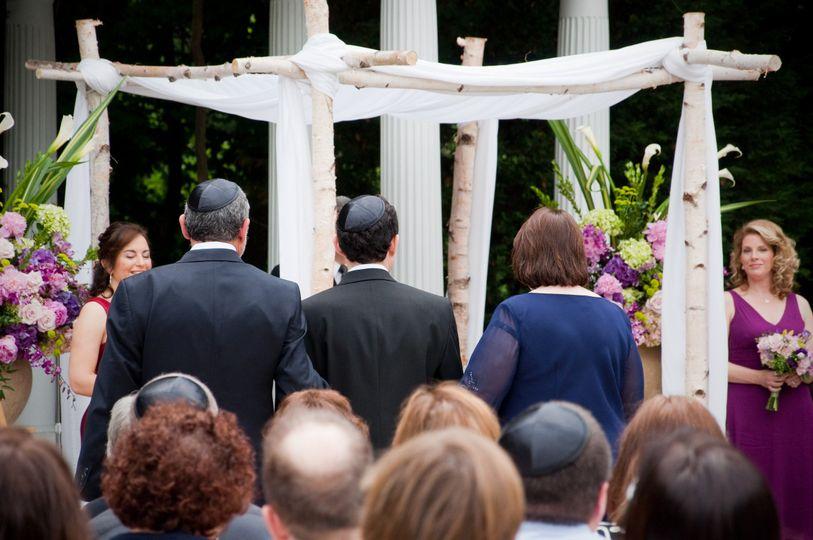 ceremony with bridesmaids pics wedding 1