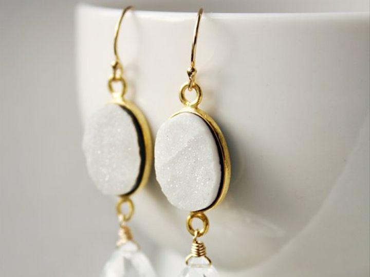 Tmx 1339638290726 WhiteOnyxDruzyEar Seattle wedding jewelry
