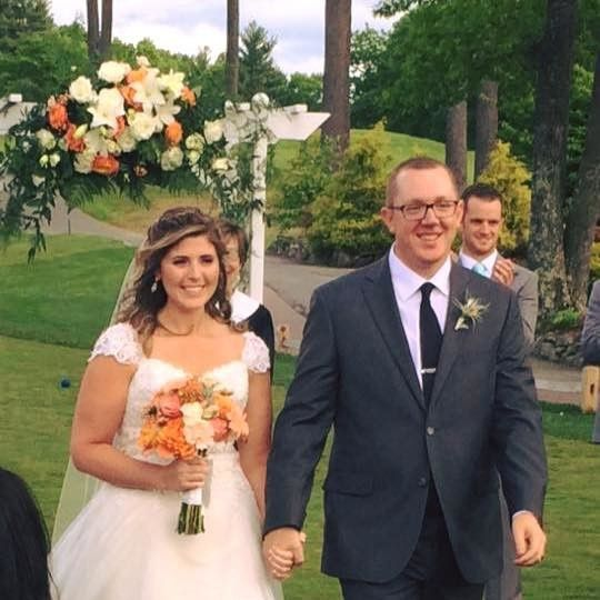 Shaker Hill Golf Course was the site of this better than par wedding!  The bride loved her coral,...