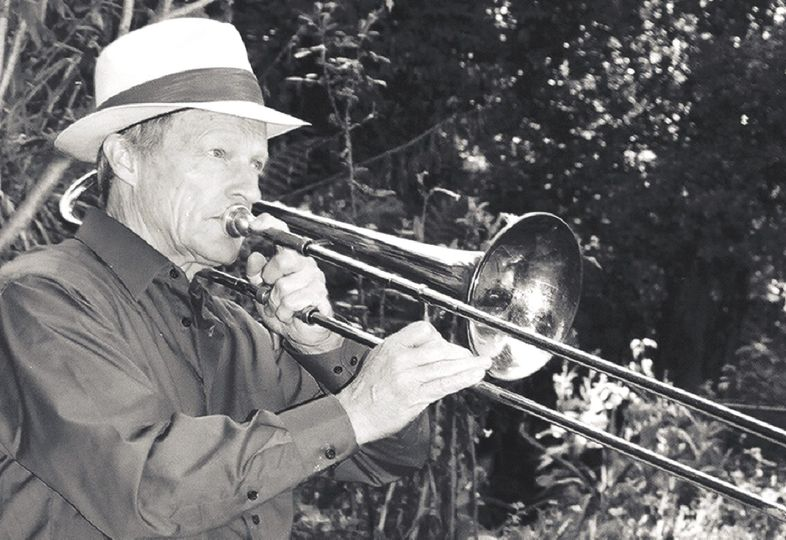 bryan playing trombone 2006