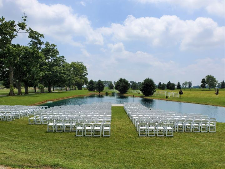 Pond ceremony location