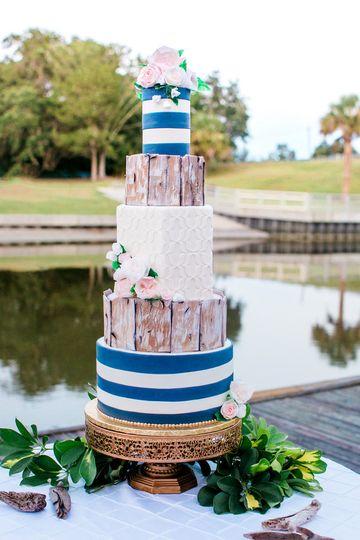 Custom Confections Wedding Cake Jacksonville Fl Weddingwire