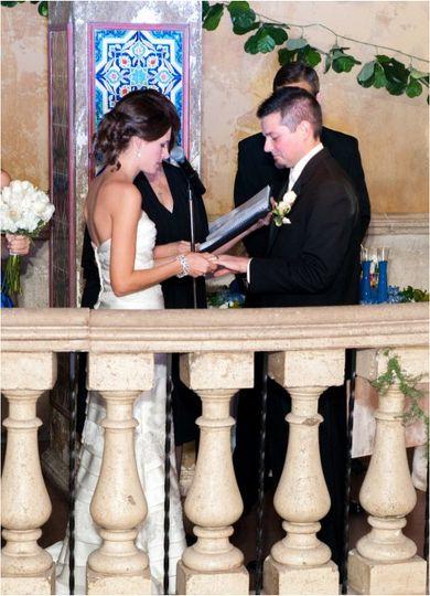 Ceremony on balcony