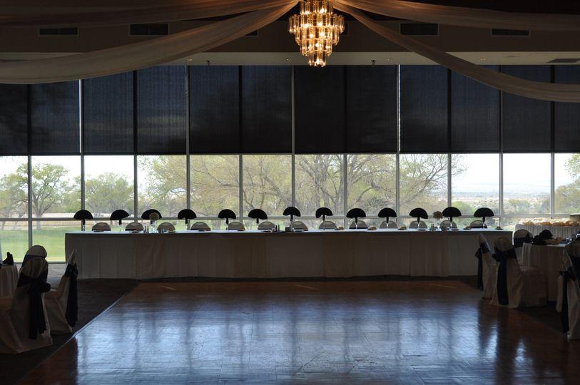 Head Table setup in Rio Grande Ballroom