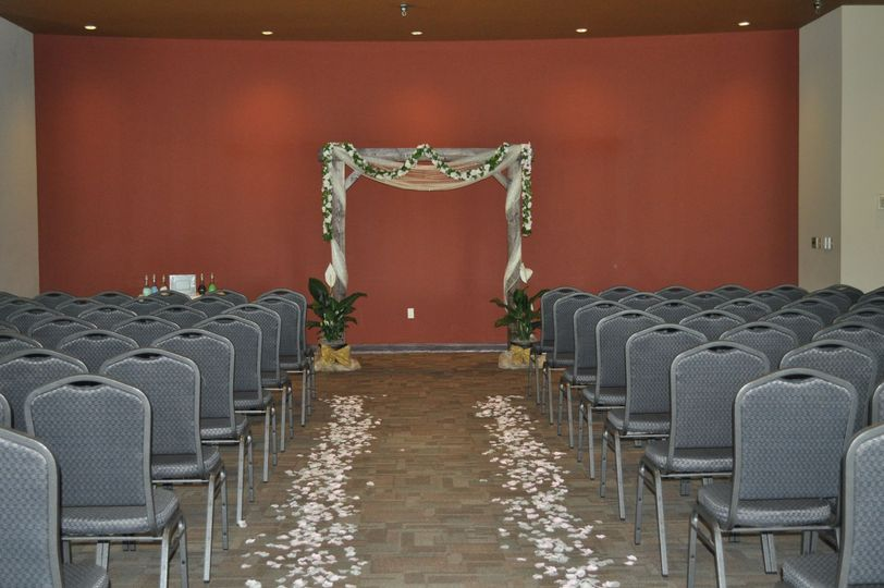 Indoor Ceremony Sandia Ballroom - Arch included in package