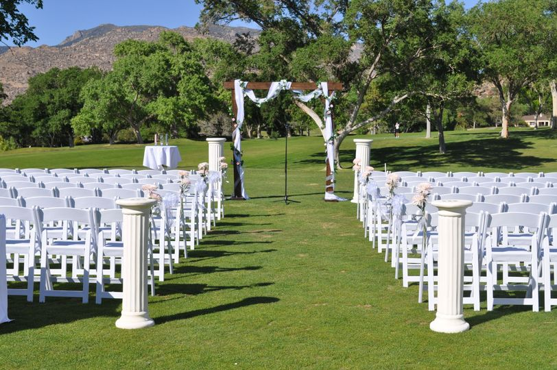 Outdoor ceremony driving range