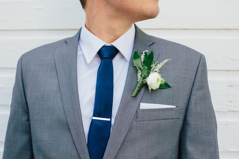 Groom's Boutonnière exclusively by Planned Perfectly HV