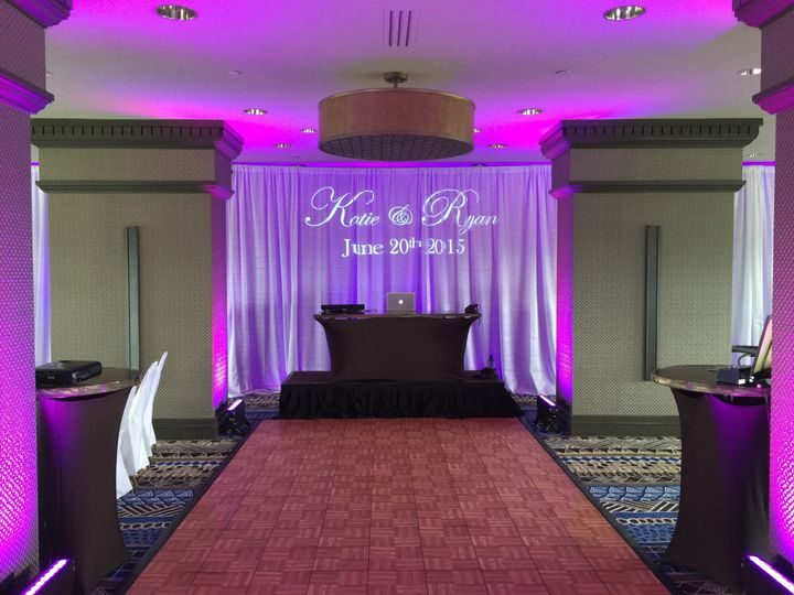 Wedding monogram uplighting