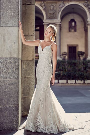 Trumpet style dress with intricate beading