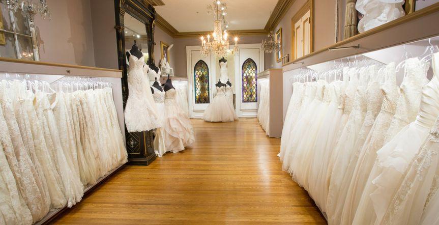 Array of wedding dresses