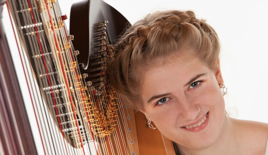 Wedding guests and audiences alike enjoy harp music by Elizabeth.  She has performed for eight years...