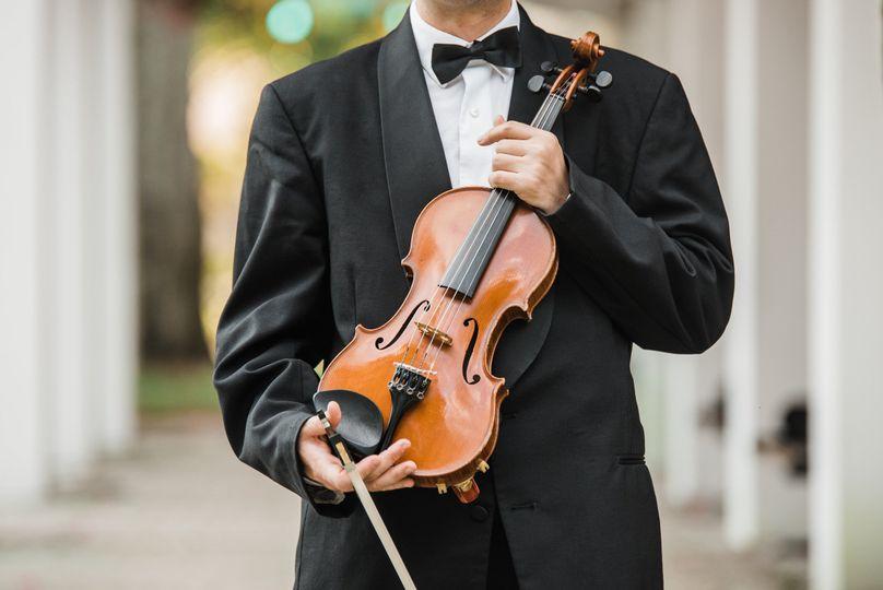 Tuxedo and violin