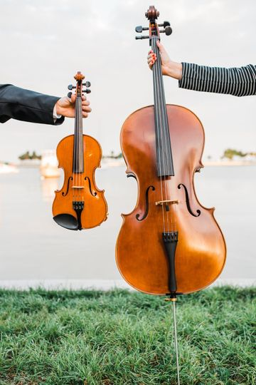 Violin and cello side by side